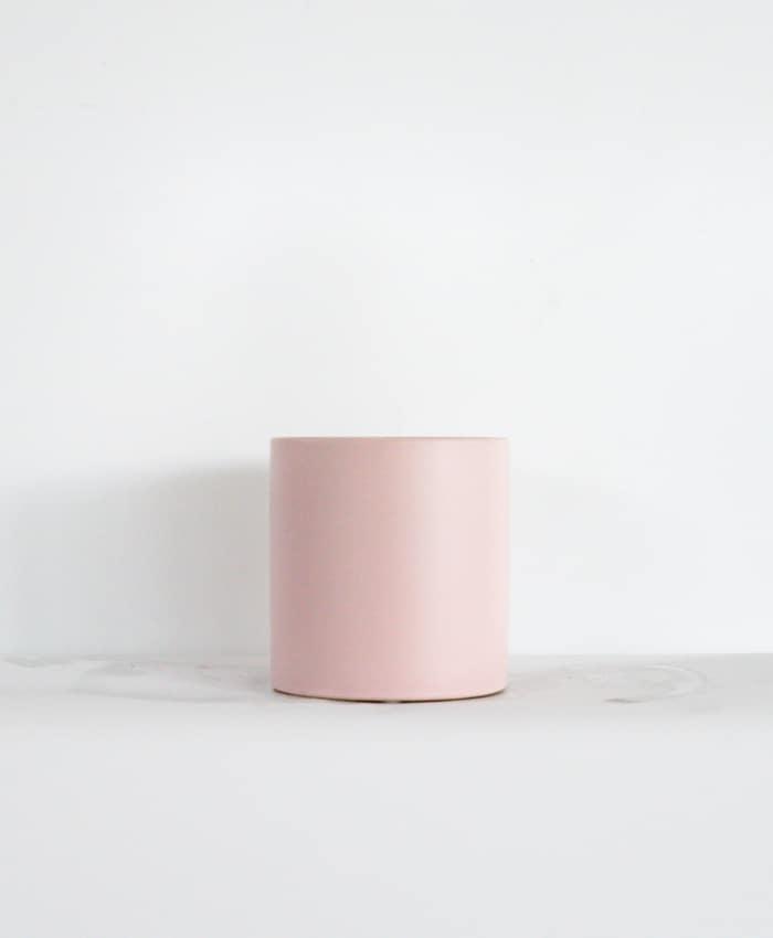 Ceramic Pot, 10cm, Pale Pink