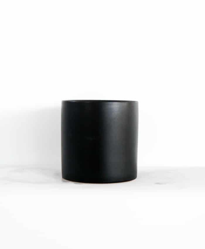 Ceramic Pot, 12cm, Black