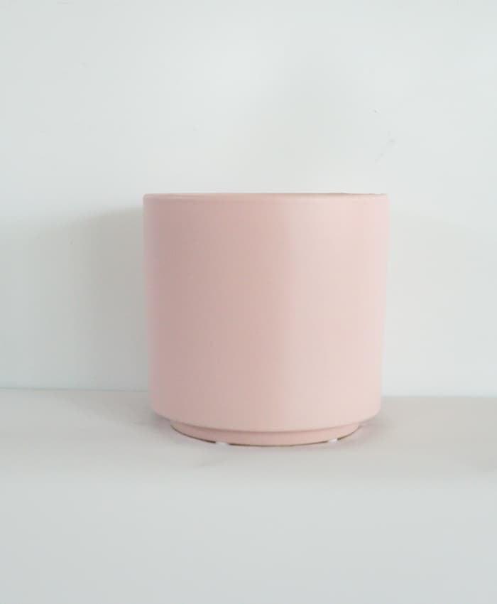 Ceramic Pot, 15cm Planter, Pale Pink