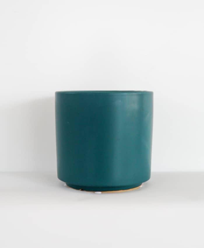 Ceramic Pot, 15cm Planter, Teal