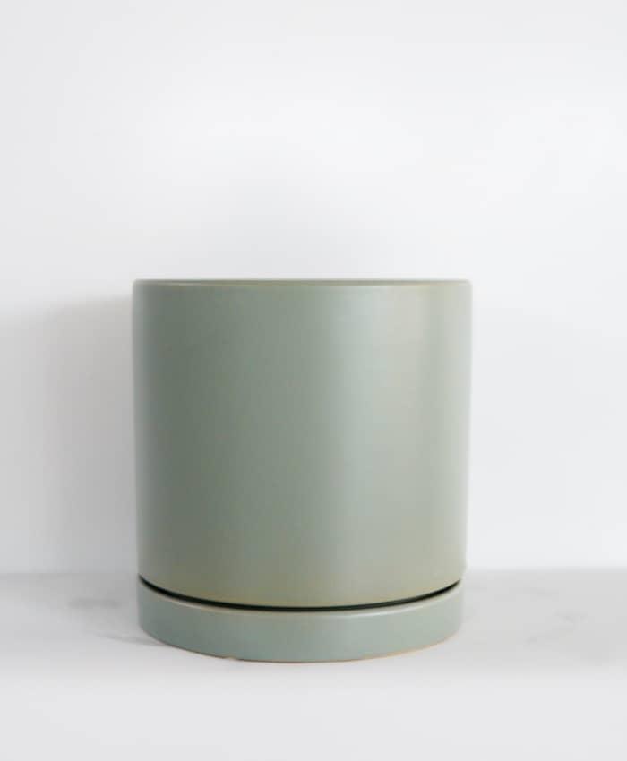 Ceramic Pot, Floor Planter, Pale Green
