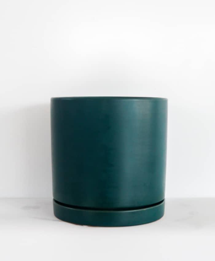 Ceramic Pot, Floor Planter, Teal