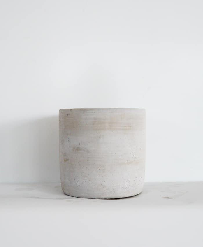 Concrete Pot 14cm, Plain